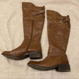 Steve Madden Leather tall tan boots